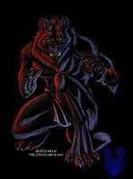 'Badass' Werewolf by JakkalWolf