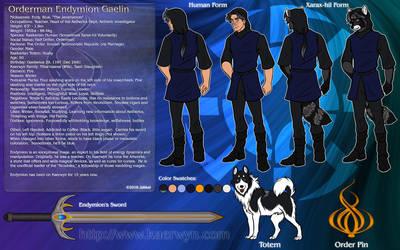 Endymion Gaelin Reference Sheet by JakkalWolf