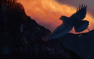 Evening Flyby by JakkalWolf