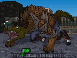 Chimera Cola: Hyenatorse by JakkalWolf
