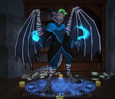 Kitteh Demon by JakkalWolf