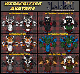 2018 Halloween Werecritter Avatars by JakkalWolf