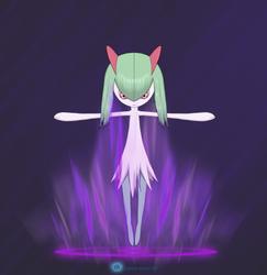 Kirlia initiates Psycho wave by gyappumusoka