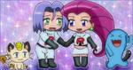 Kawaii chibi Team Rocket by Maaiika2003