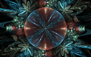 bluered flower bubble by Andrea1981G