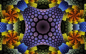 colourful pattern with hexes plates by Andrea1981G