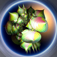 shiny green swirl forms by Andrea1981G