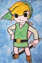 The Legend of Zelda Wind Waker: Toon Link by Matthew154274