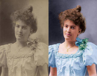 Restore and Colourize Victorian Lady CDV by spikeyharold