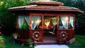 Backyard hand made gazebo.... by gintautegitte69