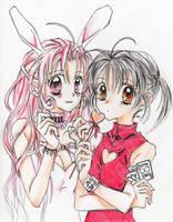 Mitsuki and Meroko by LisaPita