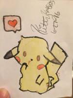 Chibi Pikachu by Kittykat8873