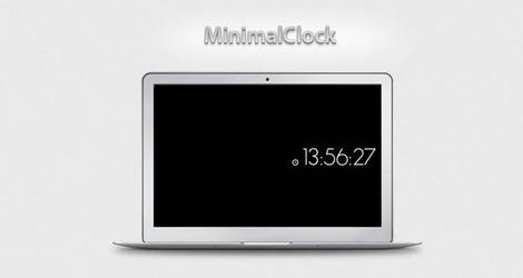 MinimalClock screen saver by optiv-flatworms