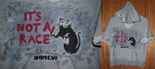 Banksy Rat-Race Hooded Sweater by ParadoxAndPlaid