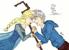 Elsa And Jack Together by RainbowFay