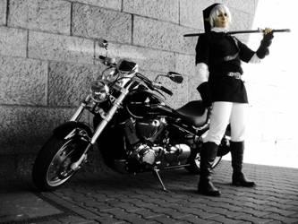 Dark Link Cosplay - motorbike by XMenouX