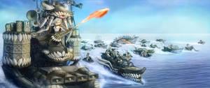 MAD KANTAI  FURYOCEAN       Coma-Doof Wo-class by DrBeeeee