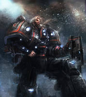 Old space Marine by Andres-Blanco