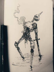 Mutilator - Inktober by Facu-Moreno