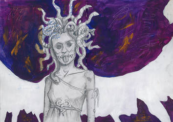 Medusa Painting by TheAlmightyPillock