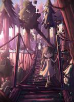 at the bridge by Anako-ART