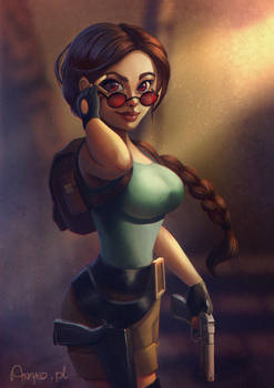 Tomb Raider tribute (video process!) by Anako-ART
