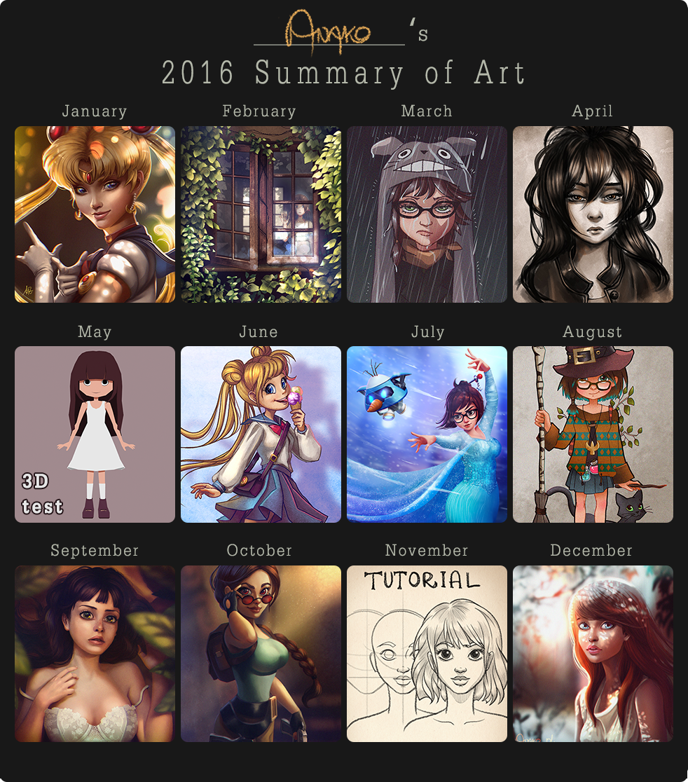 2016 summary of art by Anako-ART