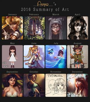 2016 summary of art by Anako-ART