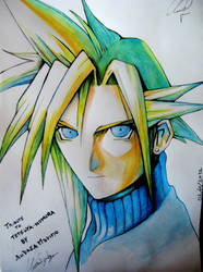 Cloud Strife FF VII Tribute by ANDREAMARINO93