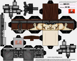 SOLID SNAKE PERSONAL DESIGN CUBEECRAFT! by ANDREAMARINO93