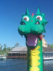 The Magic Lego Dragon by switchboard