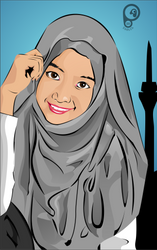 another hijab again.... :D by Baysichi