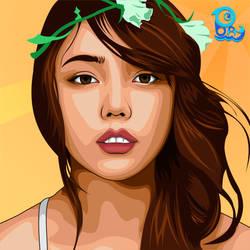 Girl Before Flower :v by Baysichi