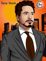 Tony Stark by Baysichi