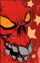 Eric Talbot - red skull by erictalbot