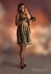 Girl with Trombone by OfTheDunes