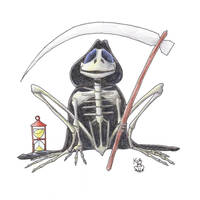 Grim Reaper of Frogs by Scellanis