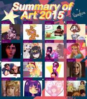 VaneFox Art Summary 2015 by VaneFox