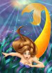 Disney styled Mermaid for sirenabonita by FrolleinGrottenolm