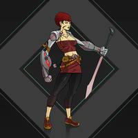 cyberpunk girl by Entropician