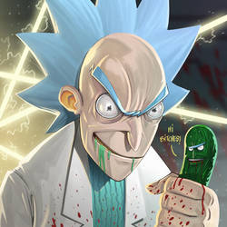 Pickle Rick by Entropician