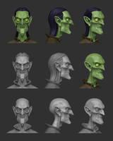 fantasy bust sculpt test by Entropician