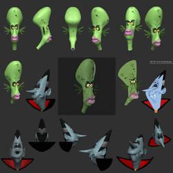 3D monsters bash by Entropician