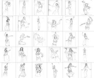 30 days of bellydancers by ChristineAltese