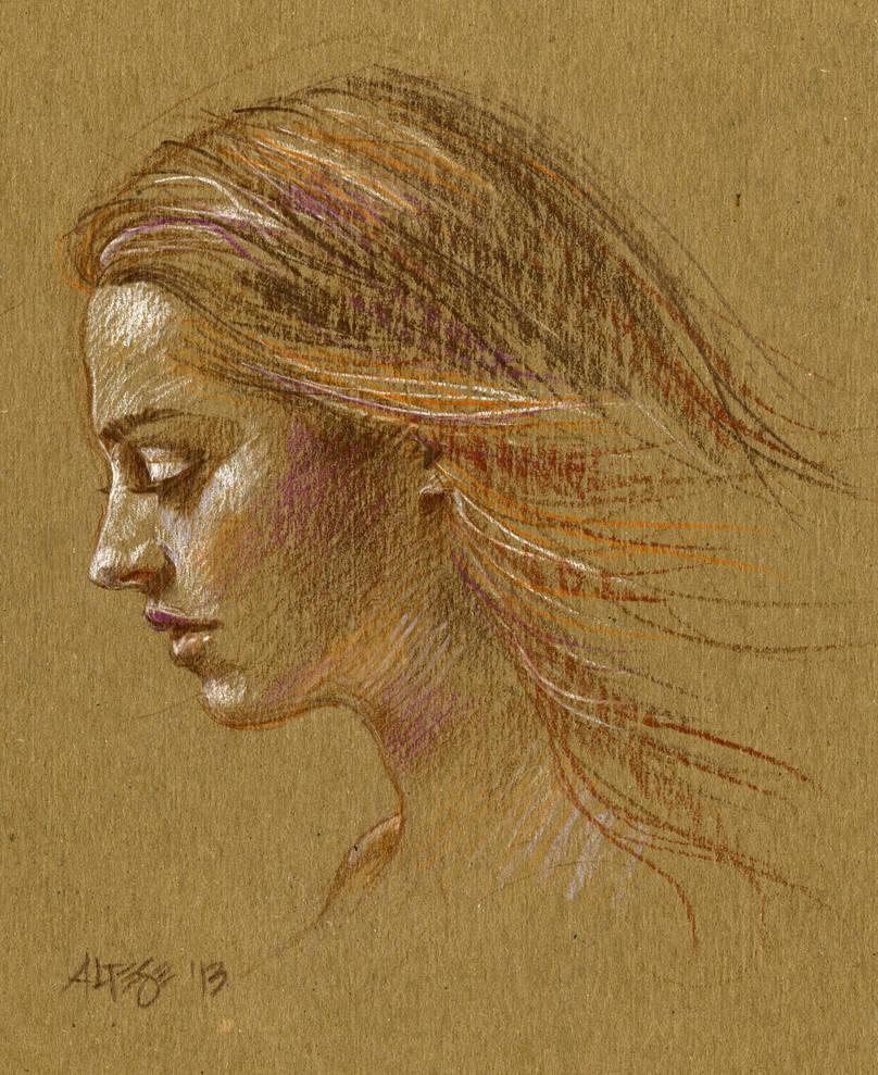 Cardboard Portrait by ChristineAltese
