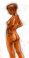 Nude 3 with color by ChristineAltese