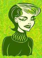 Green Turtleneck by ChristineAltese