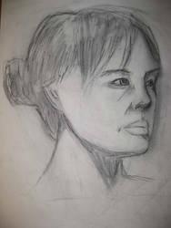 Second Week Female Portrait 01 by londerwost