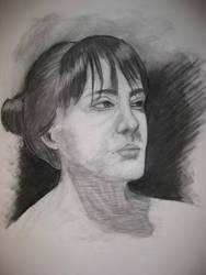 Second Week Female Portrait 02 by londerwost