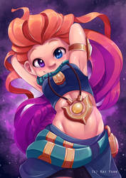 League of Legends: Zoe the Aspect of Twilight by kaiyuan